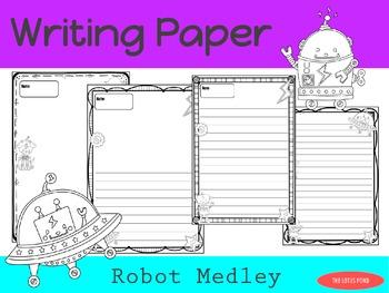 Writing Paper : Robot Medley : Standard Lines