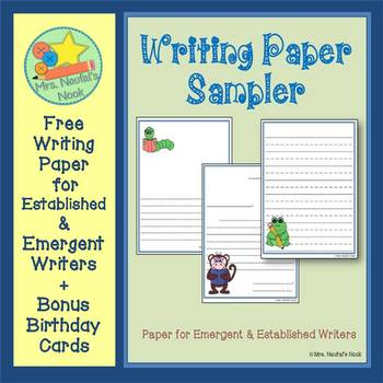 Writing Paper Templates - Free
