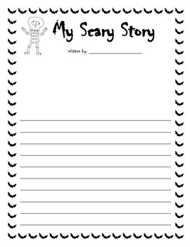 writing paper scary story by miss zees activities tpt writing paper scary story
