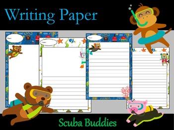 Writing Paper : Scuba Buddies : Standard Lines