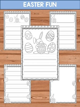 Writing Paper Set : Easter Fun - Primary Lines : Editable