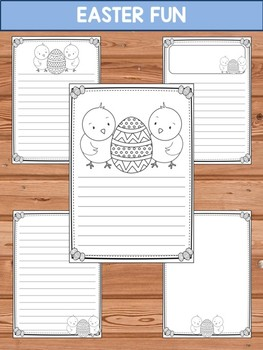 Writing Paper Set : Easter Fun - Standard Lines : Editable