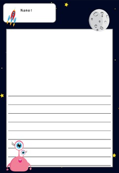 Writing Paper : Space Explorers : Standard Lines