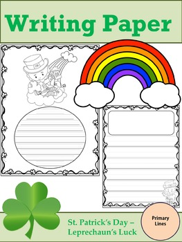 Writing Paper : St. Patrick's Day - Leprechaun's Luck : Primary Lines