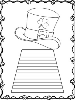 Writing Paper : St. Patrick's Day - Leprechaun's Luck : Standard Lines