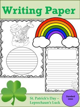 Writing Paper : St. Patrick's Day - Leprechaun's Luck : Standard Lines