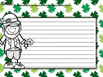 Writing Paper - St. Patrick's Day