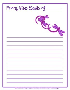 Writing Paper Stationery: Dragonflies