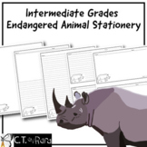 Writing Paper Stationery | Endangered Animals 2 | Intermediate | College Ruled