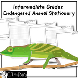 Writing Paper Stationery | Endangered Animals 1 | Intermediate | College Ruled