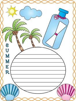 Writing Paper : Summer Cuties: Standard Lines