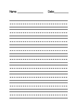 Writing Paper Template