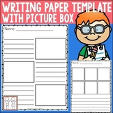 Writing Paper with Picture Box