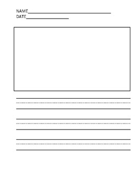 Writing Paper Template With Picture Box