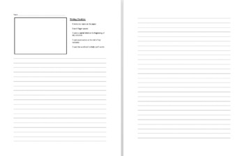 Writing Paper Template with Checklist