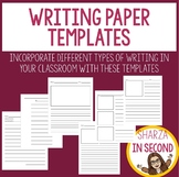 Writing Paper Templates (K, 1, 2, 3)
