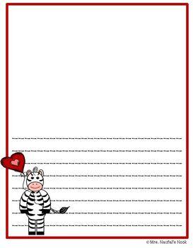 Writing Paper Templates - Zebra Theme