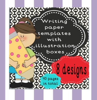 Writing Paper Templates with Illustration Boxes