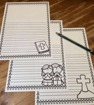 Writing Paper Templates ~ Religious Sacraments Eucharist Advent Bible and more