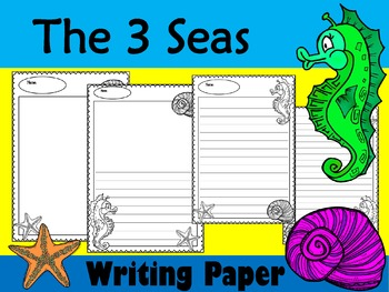 Writing Paper : The 3 Seas : Standard Lines : BW