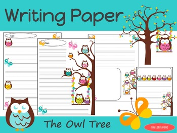 Writing Paper : The Owl Tree : Primary Lines