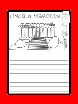 Writing Paper :  U.S. Monuments and Presidents Day : Standard Lines