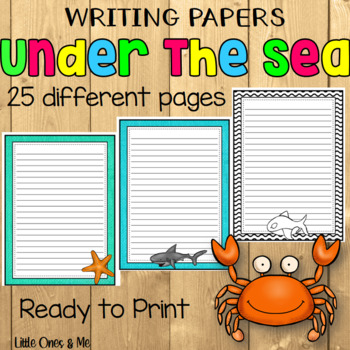 Writing Paper Under The Sea Ocean Theme