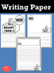 Writing Paper : Voting and Elections - Standard Lines & Black and White