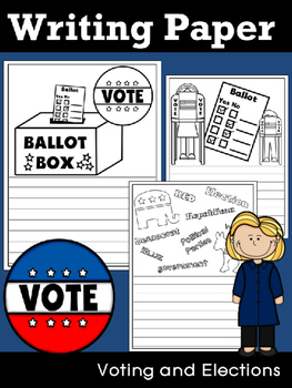 Writing Paper : Voting and Elections - Standard Lines & Bl