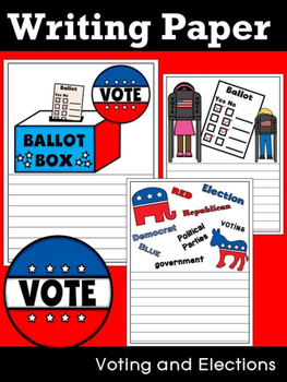 Writing Paper : Voting and Elections - Standard Lines & Color
