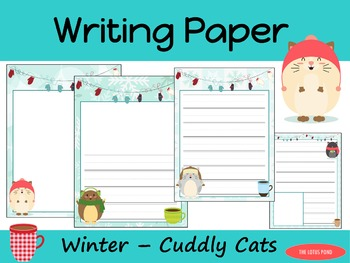 Writing Paper : Winter - Cuddly Cats