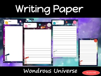 Writing Paper : Wondrous Universe : Standard Lines