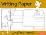 Writing Paper : Woodland Friends : Primary Lines