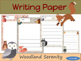 Writing Paper : Woodland Serenity : Primary Lines