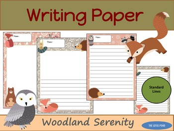 Writing Paper : Woodland Serenity : Standard Lines