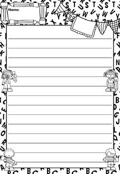 Writing Paper : Writing Rocks! : Standard Lines : BW