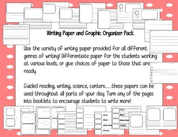 Writing Paper and Graphic Organizers Pack