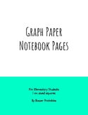 Notebook Pages, Writing Paper, and Journal Pages For Dysgraphic Students K-3