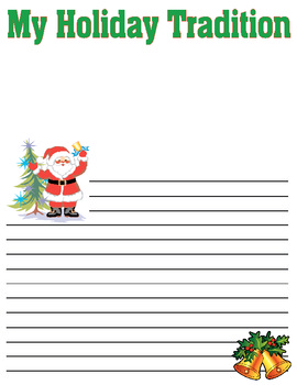 Writing Paper and Prompts Through The Year - Upper Elementary