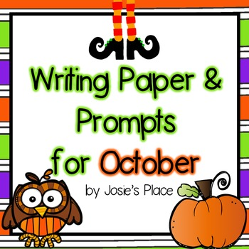 Writing Paper and Prompts for October