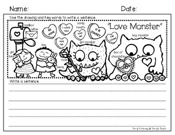 "Writing Paper and Rubric ""Love Monster"""
