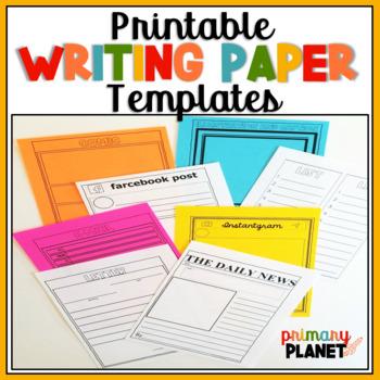 Writing Paper Writing Templates Writing Center Activities