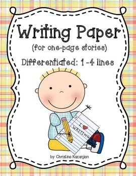 Writing Paper (differentiated) 1 - 4 Lines
