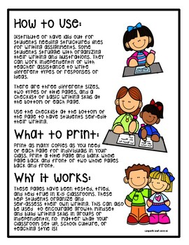 Writing Paper for Kindergarten and 1st Grade