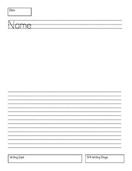 Writing Paper for SFA KinderCorner