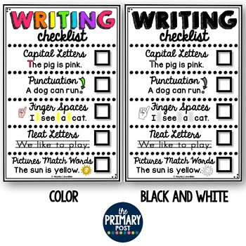 Writing Paper and Writing Checklist