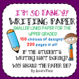 Writing Paper for the Upper Grades