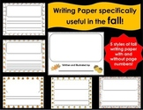 horizontal Writing Paper for the FALL
