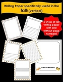 vertical Writing Paper for the FALL