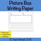 Writing Paper  (landscape with dotted lines)